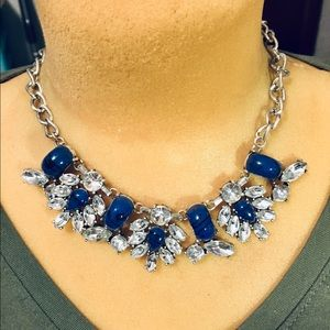 Blue and rhinestones necklace